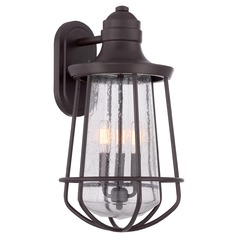 Industrial Edison Bulb Outdoor Wall Light Bronze 11-Inch by Quoizel Lighting