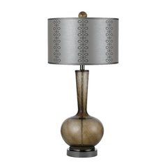 Table Lamp with Grey Shade in Grey Finish