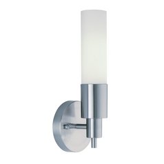Trend Lighting Modern Sconce Wall Light with White Glass in Brushed Nickel Finish TW1055A-1