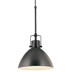 Retro Cone Mini Pendant Light in Aged Bronze
