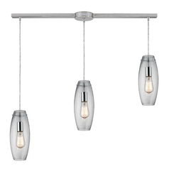 Multi-Light Pendant Light with Clear Glass and 3-Lights