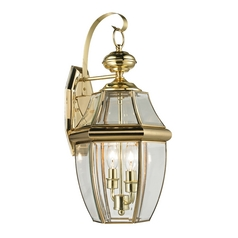 Cornerstone Lighting Ashford Antique Brass Outdoor Wall Light