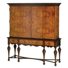 Currey and Company Lighting Mahogany / Mappa Burl Cabinets / Storage / Organization