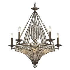 Elk Lighting Jausten Antique Bronze Chandelier