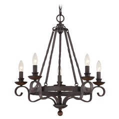 Quoizel Noble Rustic Black Chandelier