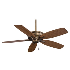 52-Inch Ceiling Fan Without Light in Cognac Finish
