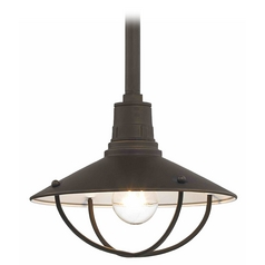 10-Inch Caged RLM Pendant Light in Bronze Finish