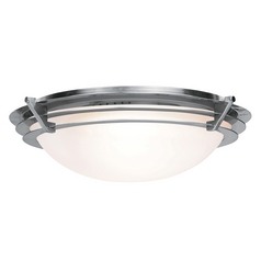 Access Lighting Saturn Brushed Steel Flushmount Light