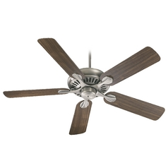 Quorum Lighting Pinnacle Antique Silver Ceiling Fan Without Light