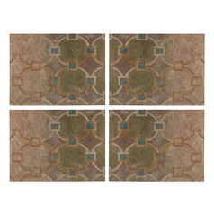 Set Of 4 Printed Metal Wall D cor Panels