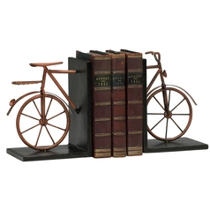 Cyan Design Bicycle Muted Rust Bookend
