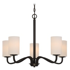 Nuvo Lighting Willow Aged Bronze Chandelier