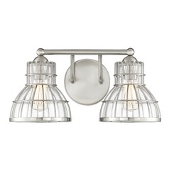 Satin Nickel Bathroom Light Grant Collection by Savoy House