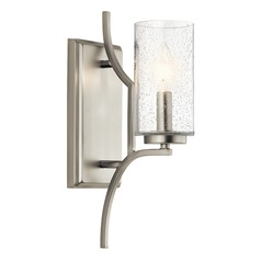 Seeded Glass Sconce Brushed Nickel Vara by Kichler Lighting