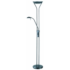 Lite Source Lighting Duality Torchiere Lamp LSF-9984BLK
