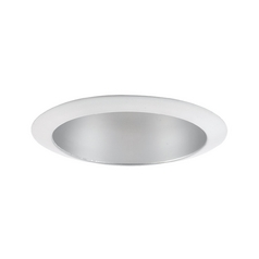 Recessed Trim in Satin Nickel - White Finish