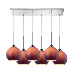 Elk Lighting HGTV Purple Multi-Light Pendant - Six Lights 10240/6rc-pur