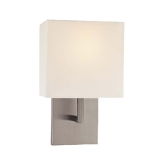 Single-Light Sconce with Linen Shade