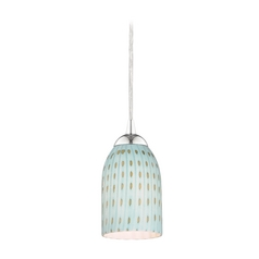 Design Classics Lighting Modern Mini-Pendant Light with Blue Glass 582-26 GL1003D