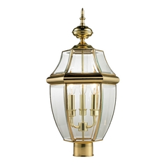 Thomas Lighting Ashford Antique Brass Post Light