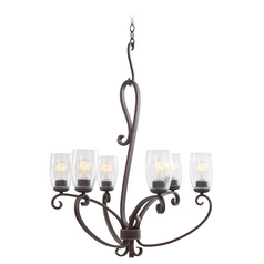 Kalco Lighting Castaic Antique Copper Chandelier