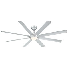 Modern Forms Titanium Silver 80-Inch LED Smart Ceiling Fan 2041LM 3000K