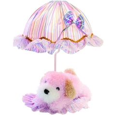 Lite Source Lighting Puppy Pink Table Lamp with Bowl / Dome Shade