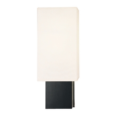 Modern Sconce Wall Light with White Shade in Espresso/ Nickel Finish