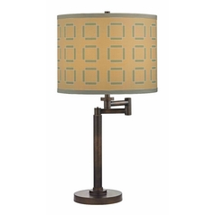Design Classics Lighting Modern Swing Arm Lamp with Brown Shade in Bronze Finish 1902-1-604 SH9545