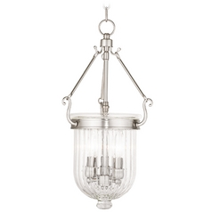 Livex Lighting Coventry Brushed Nickel Mini-Pendant Light with Bowl / Dome Shade