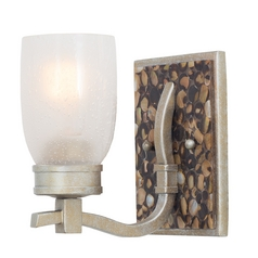 Seeded Glass Sconce Silver Kalco Lighting