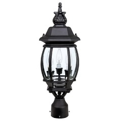 Capital Lighting French Country Black Post Light