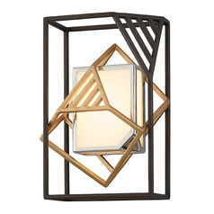 Troy Lighting Cubist Bronze / Gold Leaf LED Sconce