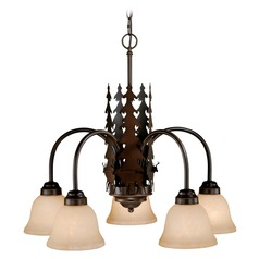 Bryce Burnished Bronze Chandelier by Vaxcel Lighting
