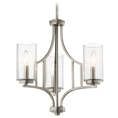 Seeded Glass Mini-Chandelier Brushed Nickel Vara by Kichler Lighting