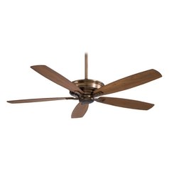 60-Inch Ceiling Fan Without Light in Cognac Finish