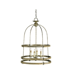 Bronze Birdcage Pendant Light with Four Lights