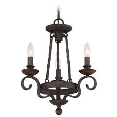 Quoizel Noble Rustic Black Mini-Chandelier
