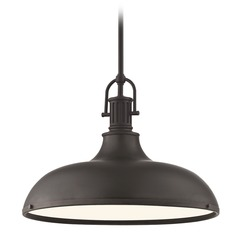 Industrial Bronze Pendant Light 15.63-Inch Wide
