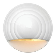 Modern LED Recessed Deck Light in Matte White Finish