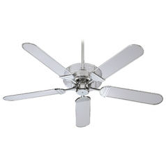 Quorum Lighting Prizzm Chrome Ceiling Fan Without Light