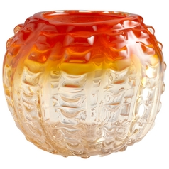 Cyan Design Fire Pod Orange & Clear Vase