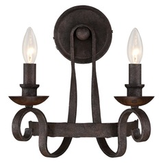 Quoizel Noble Rustic Black Sconce