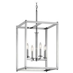 Kichler Lighting Crosby Chrome Pendant Light with Cylindrical Shade