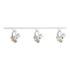 Modern Track Light Kit in White Finish