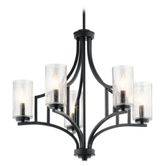 Seeded Glass Chandelier Black Vara by Kichler Lighting