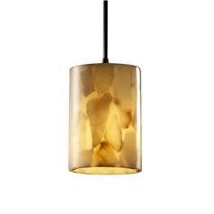 Modern Mini-Pendant Light with Alabaster Glass Shade