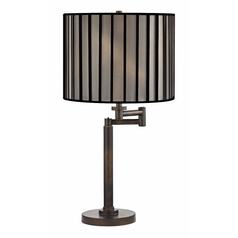 Design Classics Lighting Modern Swing Arm Lamp with Black Shade in Bronze Finish 1902-1-604 SH9548