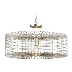 Currey and Company Lighting Silver Leaf Pendant Light