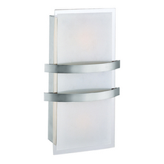 Access Lighting Metro Brushed Steel Sconce